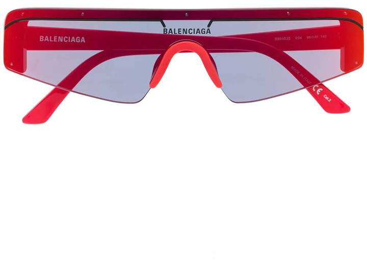 Balenciaga futuristic sunglasses