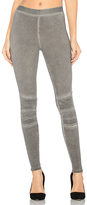 David Lerner Stitched Moto Legging in Taupe. - size L (also in M,S)