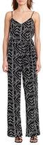 Lauren Ralph Lauren Geo-Print Crepe Jumpsuit