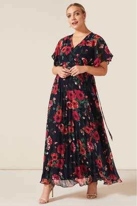 Studio 8 Womens Blue Lydia Floral Maxi Dress - Blue