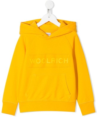 Woolrich Kids Logo Patch Front Pocket Hoodie