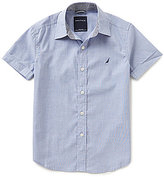 Nautica Big Boys 8-20 Solid Short-Sleeve Woven Shirt