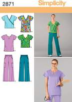 Simplicity Sewing Pattern 2871 Misses' Scrubs