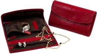 Bey-Berk Bey Berk Patterned Leather Jewelry Clutch