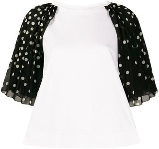 Stella McCartney polka dot sleeve shirt
