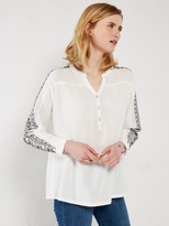 White Stuff Poet embroidery shirt