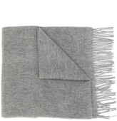 Mulberry fringed edge scarf