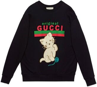 "Gucci ""Original sweatshirt with kitten"