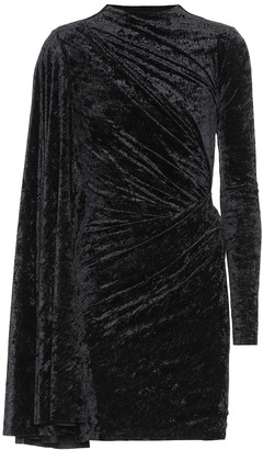 Balenciaga Crushed velvet minidress