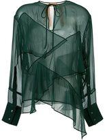 No.21 semi sheer layered blouse