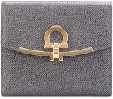 Salvatore Ferragamo clasp-detail wallet - women - Cotton/Calf Leather - One Size