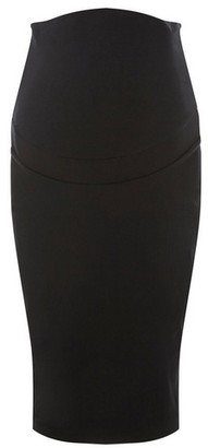 Dorothy Perkins Womens Maternity Black Over Bump Bengaline Skirt, Black