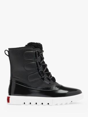 Sorel Joan Of Arctic Leather Snow Boots, Black