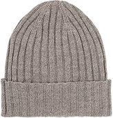 Barneys New York MEN'S RIBBED MERINO WOOL BEANIE