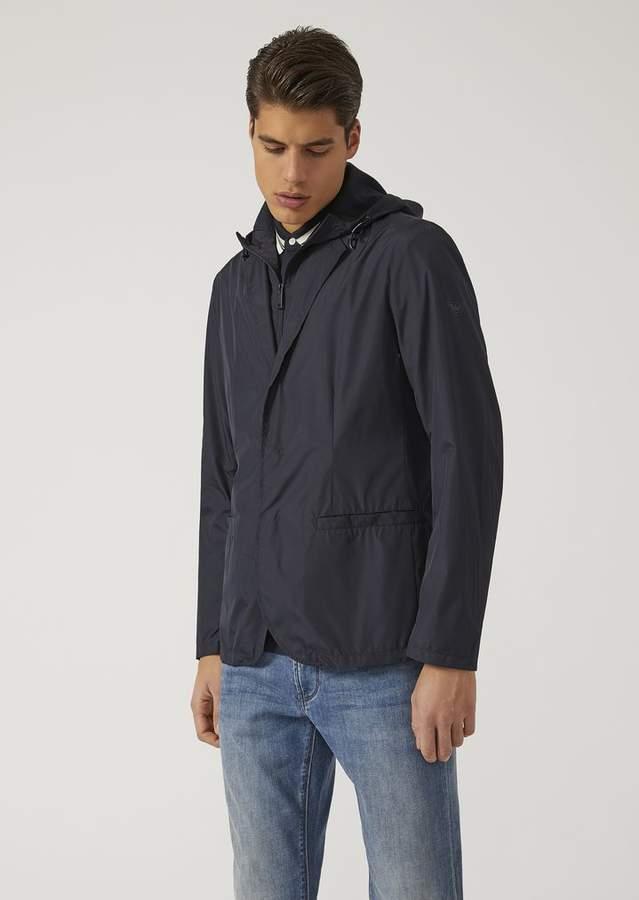 Emporio Armani Jacket In Technical Fabric
