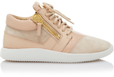 Giuseppe Zanotti Leather-Trimmed Suede Sneakers