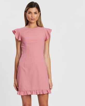 Atmos & Here Molly Ruffle Hem Dress