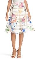 Ted Baker 'Hoona' Burnout Stripe Pleated Skirt
