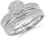 Marquis Womens 925 Sterling Silver RH CZ Micro Pave Solitaire Twins 4mm Ring 7