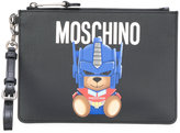 Moschino Transformer Teddy clutch bag - women - PVC - One Size