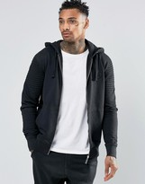 Criminal Damage Zip Through Biker Hoodie