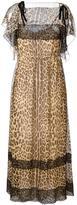 RED Valentino leopard print maxi dress