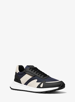 Michael Kors Miles Canvas and Leather Trainer - Dark Indigo