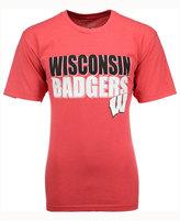 Colosseum Men's Wisconsin Badgers Wordmark Stack T-Shirt