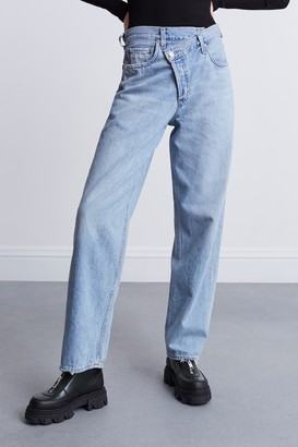 AGOLDE 100% Cotton/Organic Cotton Criss Cross Upsized Jeans