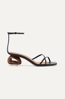 Neous Phippium Leather Sandals - Midnight blue