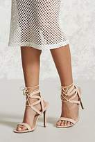 Forever 21 FOREVER 21+ Faux Suede Strappy Ankle Heels
