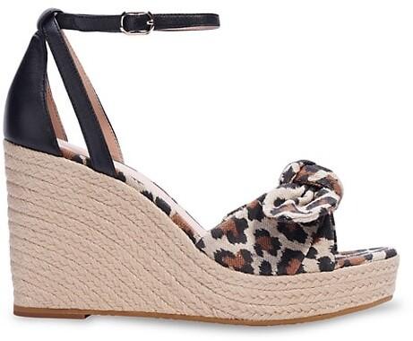 Kate Spade Tianna Leopard-Print Wedge Espadrille Sandals