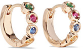 Alison Lou + Hasbro Twister Huggies 14-karat Gold Multi-stone Earrings - one size