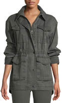 ATM Anthony Thomas Melillo Field Zip-Front Utility Jacket with Stowaway Hood