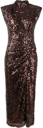 In The Mood For Love Sequinned Ruched Dress