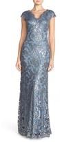 Tadashi Shoji Petite Women's Sequin Lace Gown