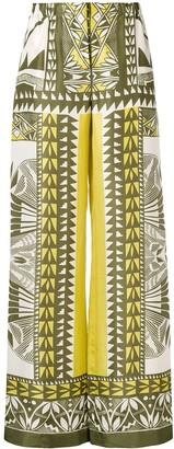 Alberta Ferretti printed palazzo pants