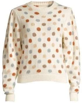 Rebecca Taylor Women's Jacquard Knit Dot Sweatshirt - Ivory Multi - Size Small