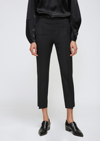 Lanvin Black Cropped Slim Trouser