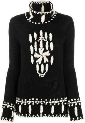 Ermanno Scervino Embroidered Roll-Neck Sweater