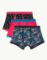 M&S Collection 3 Pack Cotton Rich Cool & FreshTM Trunks