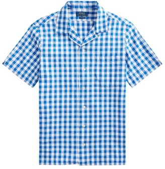 Polo Ralph Lauren Short-Sleeve Gingham Beach Poplin Camp Shirt