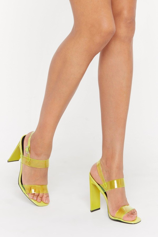 577dab30acd Clear Block Heel Shoes - ShopStyle UK