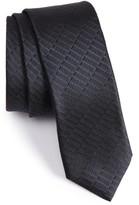 BOSS Men's Solid Silk Textured Tie