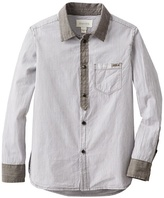 Diesel Big Boys' Cidify Yarn Dyed Button Front Shirt
