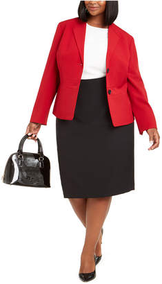 Le Suit Plus Size Pencil Skirt Suit