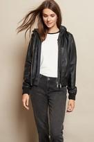Garage Faux Leather Bomber Jacket