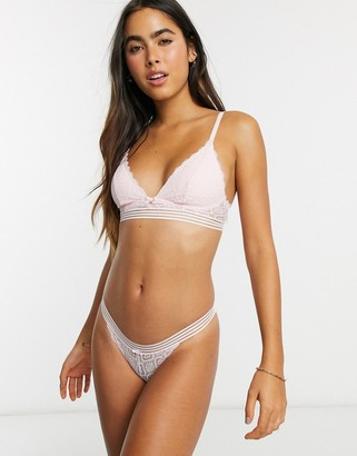Dorina Sienna lace bralette with removeable padding in pink