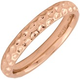 Simply Stacks Sterling 18K Rose Gold-Plated Dimple 3.25mm Rin