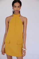 Thumbnail for your product : Halter Shift Mini Dress By Mare Mare in Gold Size L